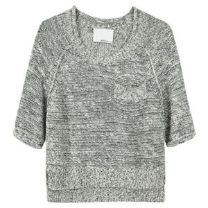 3.1 PHILLIP LIM Cropped Short Sleeve Knit Sweater